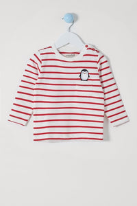Mini-me Breton Penguin top