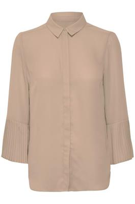 Blush blouse with frilled sleeves