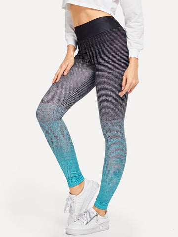 Wide Waistband Ombre Leggings | Amy's Cart Singapore