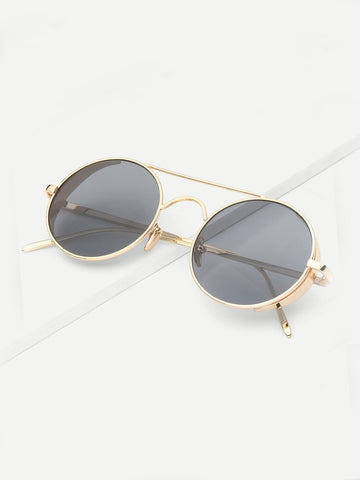 Men Top Bar Round Lens Sunglasses | Amy's Cart Singapore