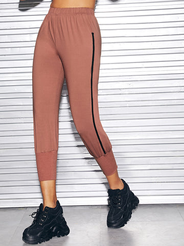 Tape Side Elastic Waist Pants | Amy's Cart Singapore