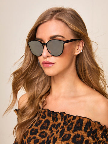 Round Frame Mirror Lens Sunglasses | Amy's Cart Singapore
