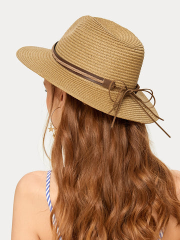 Bow Knot Decor Straw Hat | Amy's Cart Singapore