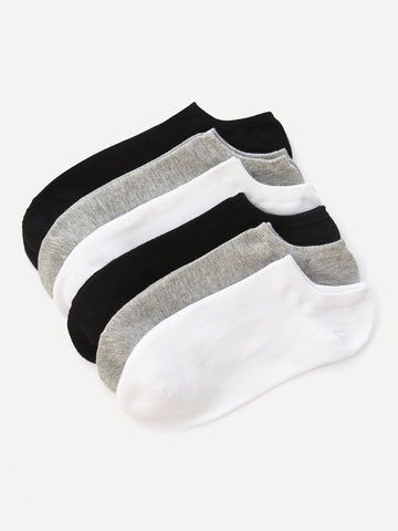 Men Plain Ankle Sock 6pairs | Amy's Cart Singapore