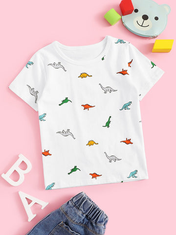 Toddler Boys Dinosaur Print Tee | Amy's Cart Singapore