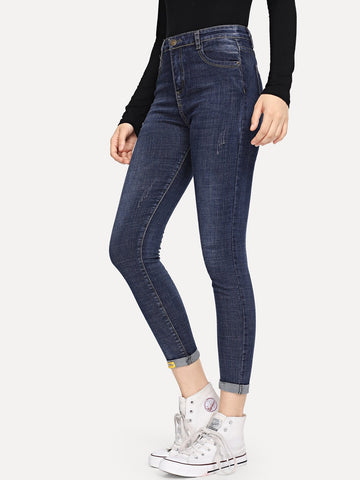 Rolled Hem Jeans | Amy's Cart Singapore