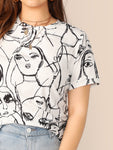 Plus Figure Print Tee | Amy's Cart Singapore