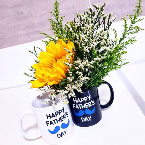 Happy Father's Day Mug With Flowers