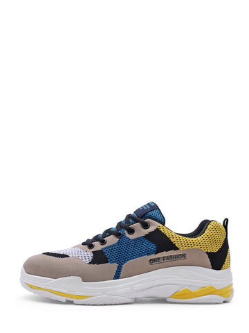 Men Color Block Mesh Sneakers | Amy's Cart Singapore