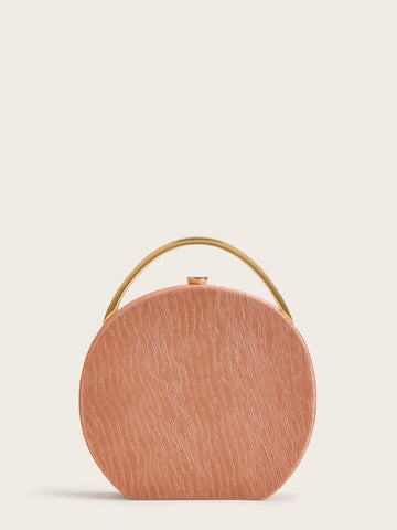 Metal Handle Round Evening Chain Bag | Amy's Cart Singapore