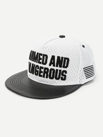 Men Letter Embroidery Flat Brim Cap | Amy's Cart Singapore