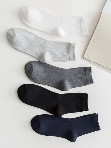 Men Plain Socks 5pairs | Amy's Cart Singapore