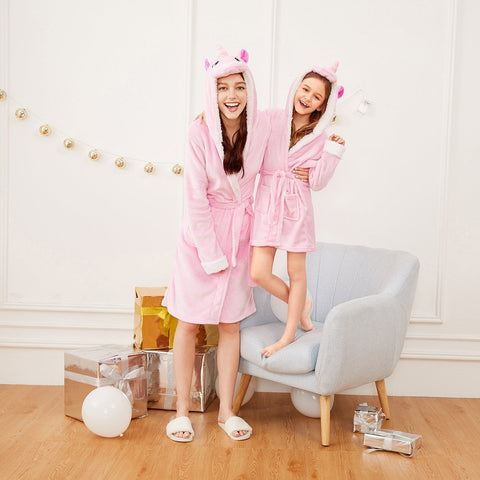 Mummy - Unicorn Self Belted Hooded Robe | Amy's Cart Singapore