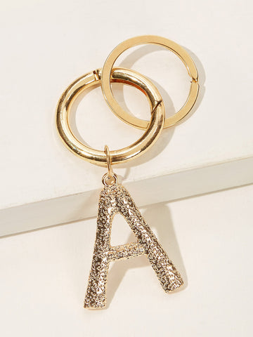 Letter Shaped Keychain