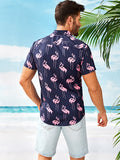 Men Flamingo Print Shirt