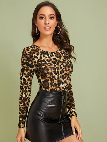 Leopard Fitted Bodysuit