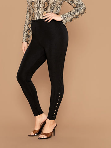Plus Studded Detail Leggings Without Belt
