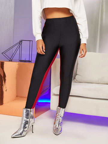 Two Tone Skinny Leggings