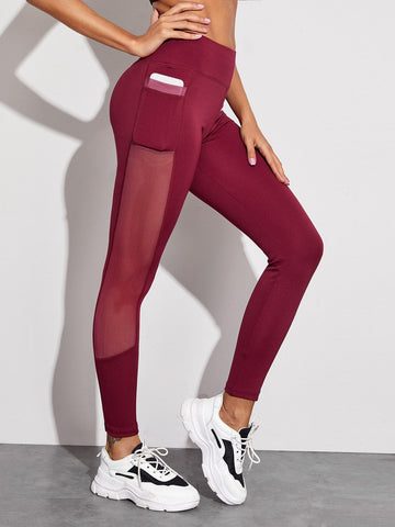 Mesh Panel Side Skinny Sports Leggings