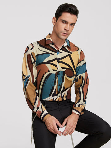 Men Allover Print Shirt