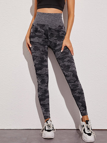 Allover Print Space Dye Sports Leggings