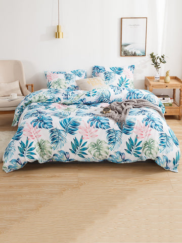 Tropical Leaf Print Sheet Set