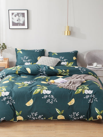 Plant & Orange Print Sheet Set