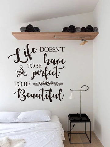 Abstract Slogan Print Wall Sticker