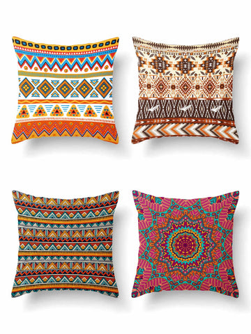 1pc Tribal Print Cushion Cover Without Filler