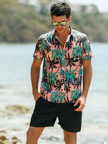 Men All Over Tropical Print Shirt