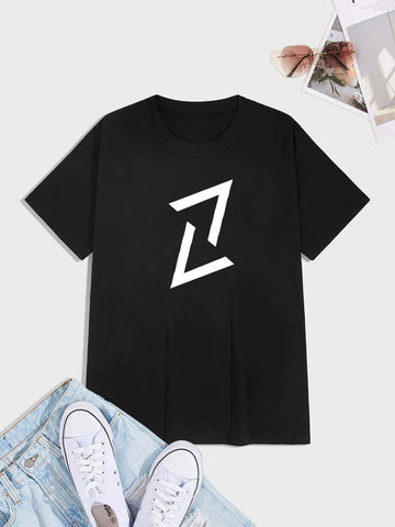 Men Letter Graphic Short Sleeve Tee
