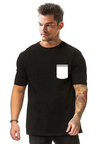 Men Pocket Print Short Sleeve Tee