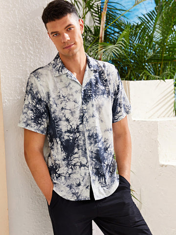 Men Tie Dye Print Shirt