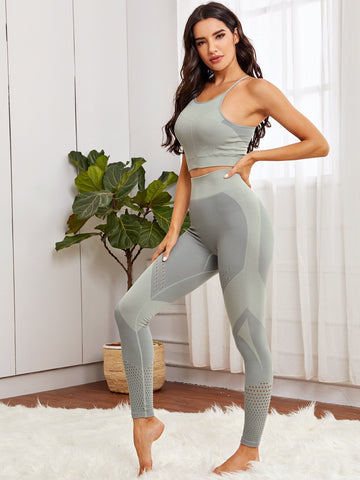 Hollow Out Sports Bra & Leggings