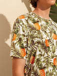 Men Pineapple and Tropical Print Tee