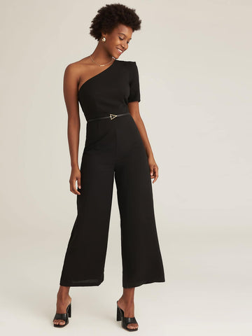 Amy's Cart Premium One Shoulder Puff Sleeve Palazzo Jumpsuit