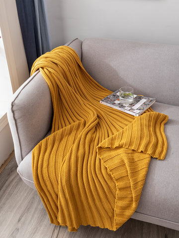 Solid Knitted Blanket