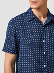 Men Allover Print Short Sleeve Shirt
