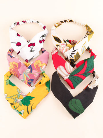 6pcs Floral Pattern Headband
