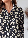 Allover Print High Low Blouse