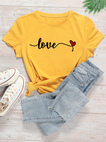 Plus Heart And Letter Graphic Tee