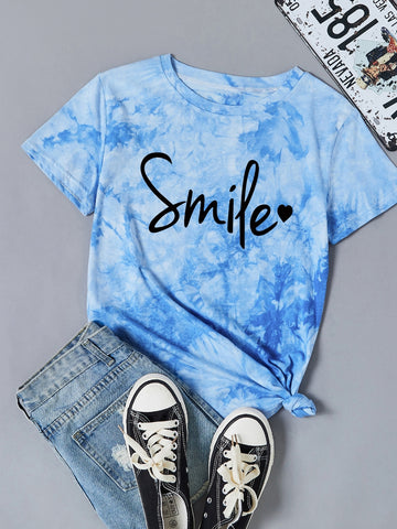 Plus Tie Dye Letter Graphic Tee