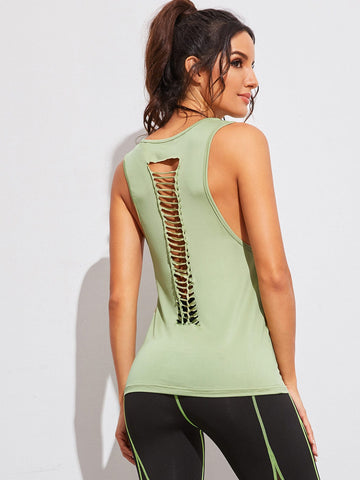 Laddering Ripped Back Tank Top | Amy's Cart Singapore