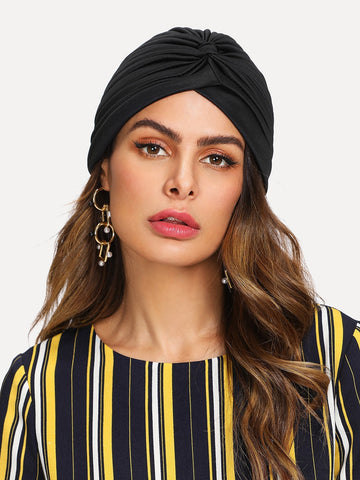 Pleated Plain Turban Hat | Amy's Cart Singapore