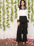 Zip Back Tiered Layered Ruffle Pants | Amy's Cart Singapore