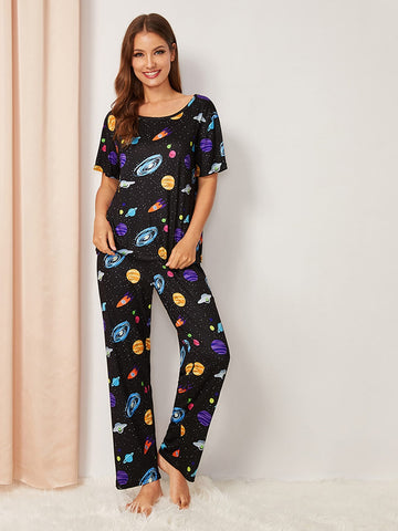 Galaxy Print Pajama Set | Amy's Cart Singapore