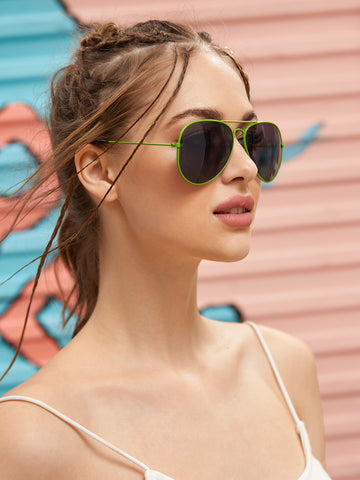 Top Bar Aviator Sunglasses With Case | Amy's Cart Singapore