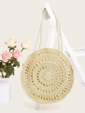 Cut-out Round Tote Bag | Amy's Cart Singapore