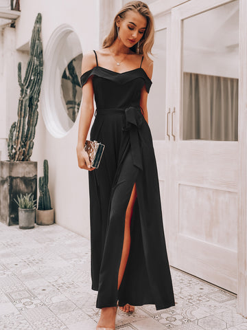 Simplee Foldover Front Pleated Wide Leg Belted Jumpsuit | Amy's Cart Singapore