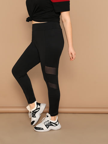 Plus Mesh Insert Leggings | Amy's Cart Singapore